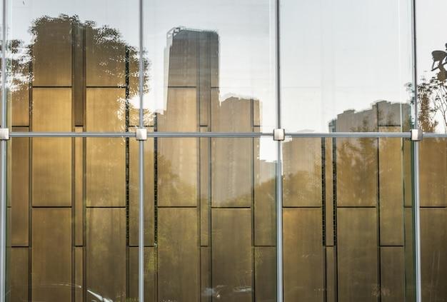 현대 오피스 빌딩의 클로즈업