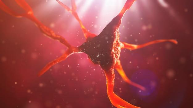Крупным планом нейрона