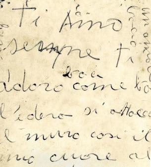 Крупным планом старого итальянского письма