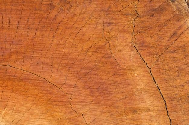 古い木製のカットの質感のクローズアップ