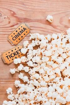Close-up of popcorn for cinema