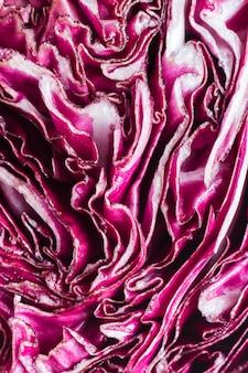 紫キャベツのクローズアップ