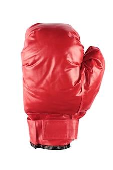 Крупным планом красные боксерские перчатки на белом фоне