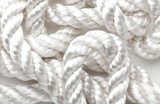 Крупный план композиции текстуры веревки