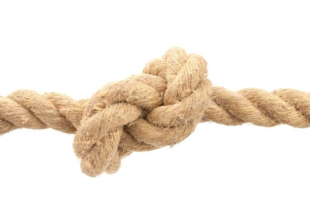 Крупный план веревки с узлом