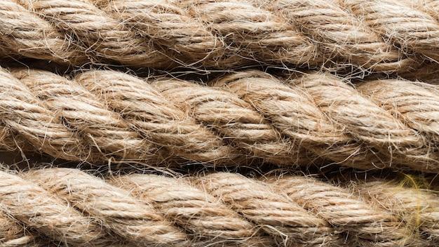 ロープのクローズアップ