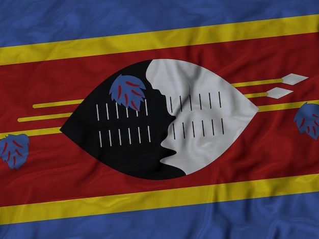 スワジランドの旗を閉じる