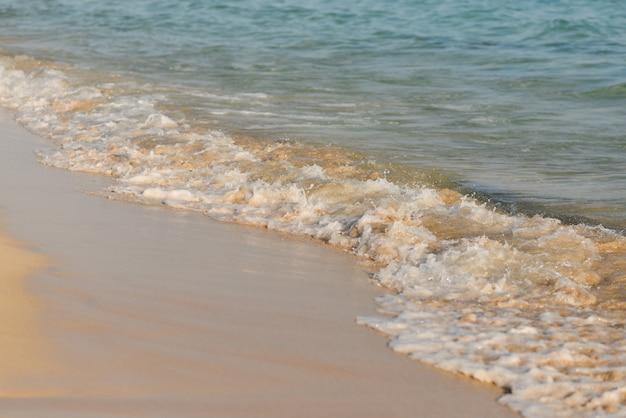 Заделывают морских волн и песка. летний пляж с пустым пространством для текста.