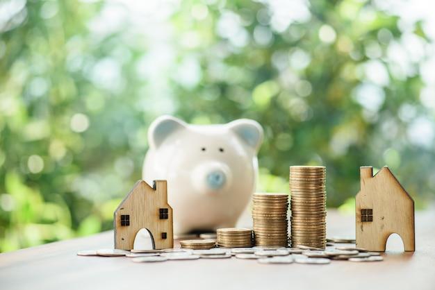 닫기 최대 돈 동전 및 홈 모델, 부동산 o에 돈을 성장 절약