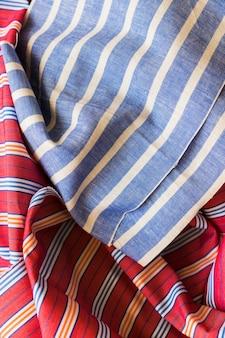 줄무늬 패턴 섬유의 클로즈업