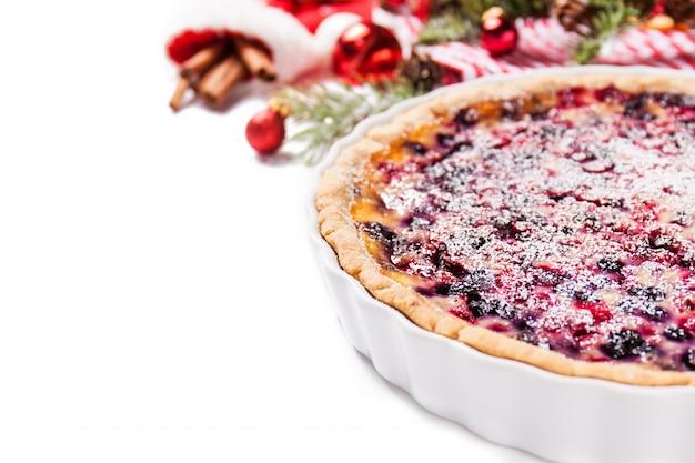 Крупным планом вкусный торт ягоды