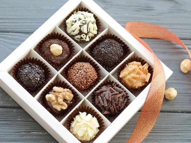 おいしいチョコレート菓子のクローズアップ