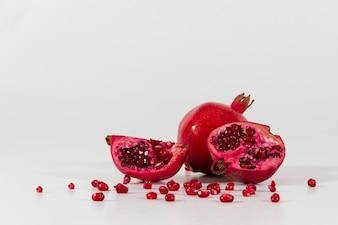Close-up of tasty pomegranate
