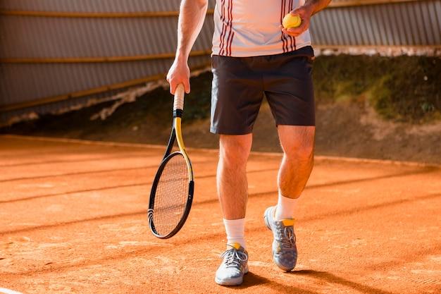 Крупный план теннисистки