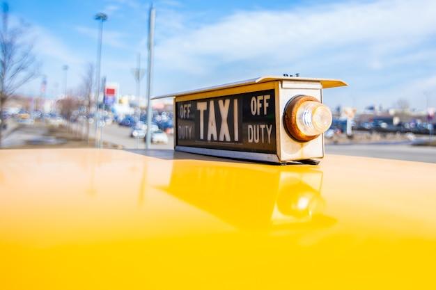 빈티지 미국 택시 요소의 클로즈업