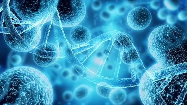 밝은 배경에 있는 바이러스 세포 또는 박테리아의 클로즈업