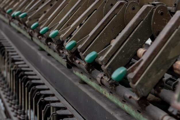 Крупным планом структуры отходов текстильного оборудования