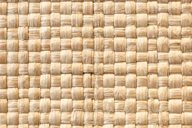織り生地の質感のクローズアップ