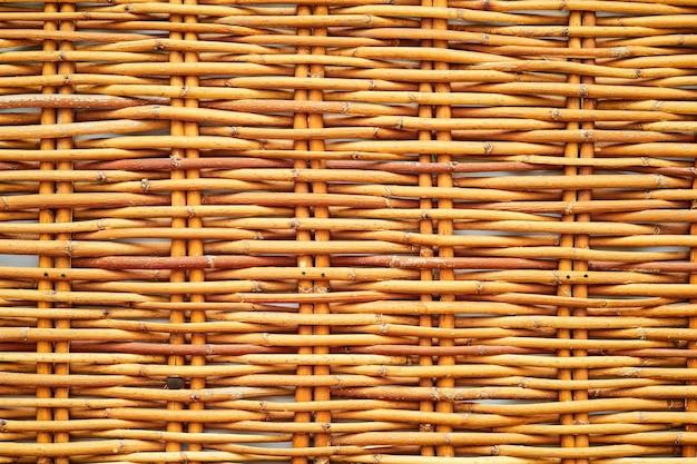 Крупный план текстуры плетеный забор