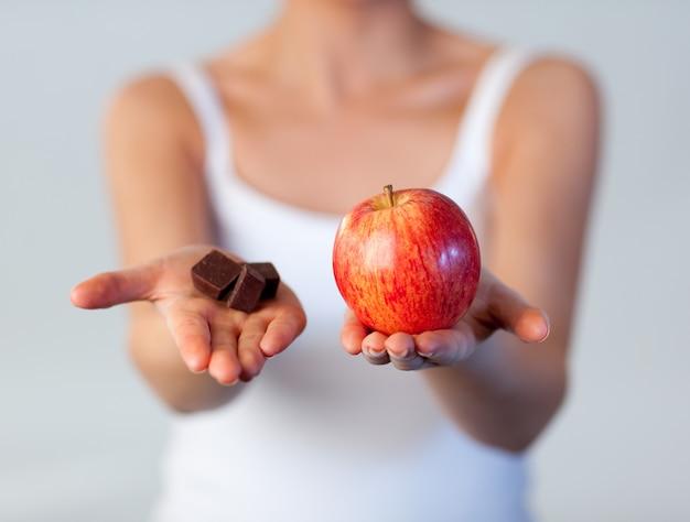チョコレート、アップル、フォーカス、リンゴ