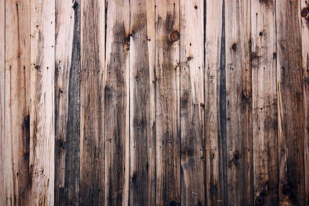 木製のフェンスパネルのクローズアップ