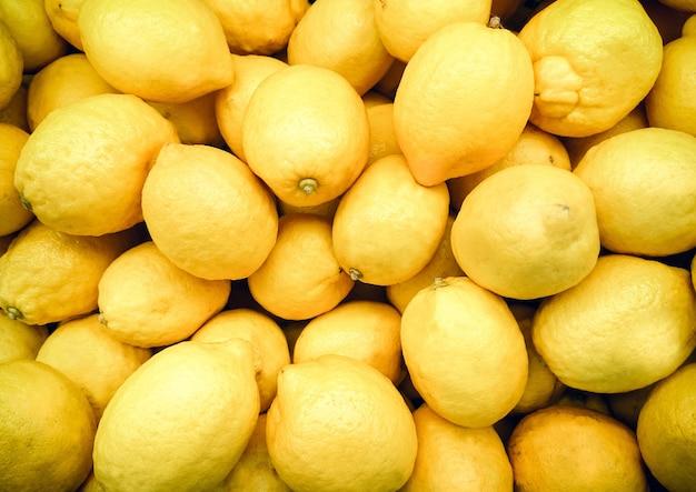 노란 레몬의 클로즈업