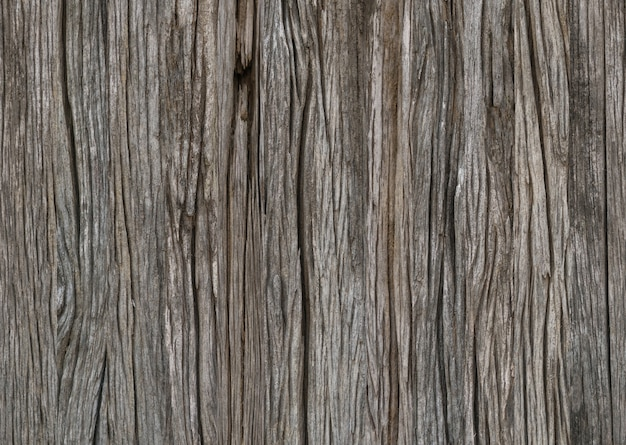 Close up of old aged weathered cracked wood surface pattern and texture background.