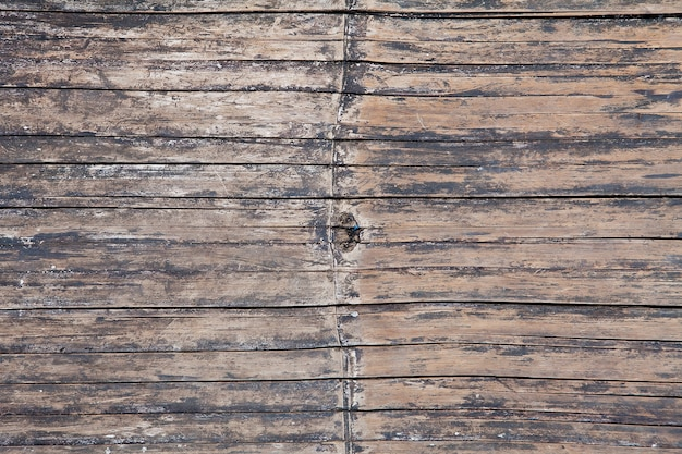 Close up of old bamboo wall for background and  texture