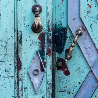 Close-up of old doorway, medina, marrakesh, morocco