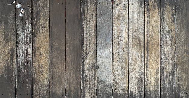 Close up old rustic dark wooden texture background tabletop Premium Photo