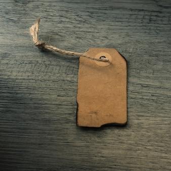 Close-up old tag