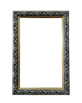 Close up old wooden picture frame
