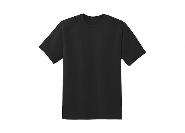 Крупным планом на черной футболке изолированные