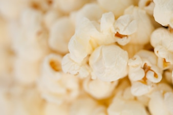 Close up on blurred  popcorn