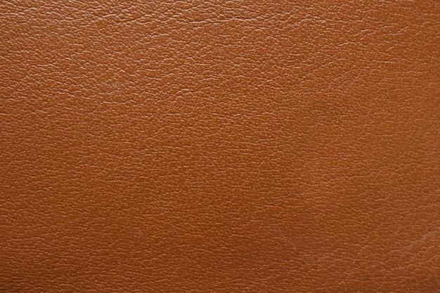 茶色の革の質感にクローズアップ