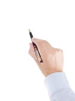 鉛筆を見せているビジネスマンにクローズアップ