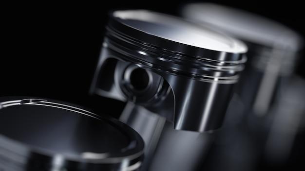 Крупным планом на концепции поршней двигателя автомобиля