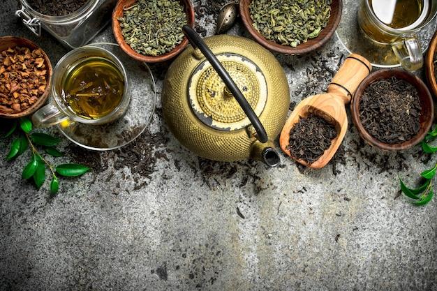 Крупным планом на ароматный китайский чай