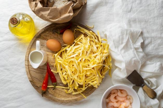 고단백 식사 재료 클로즈업