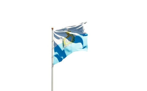 孤立した国旗のレンダリングをクローズアップ