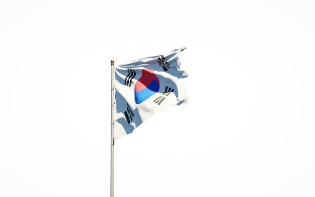 고립 된 국기 렌더링에 가까이