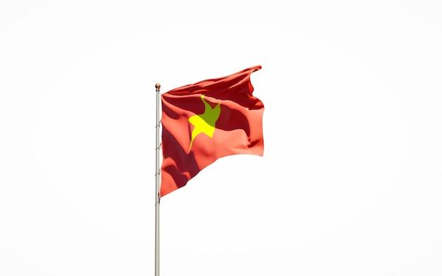 Крупным планом на изолированном рендеринге национального флага