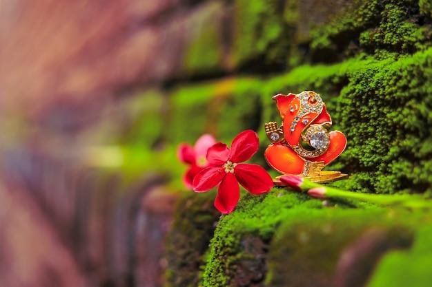 インドのガネーシャ祭の主ガネーシャにクローズアップ