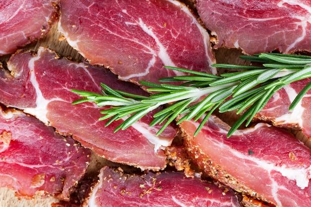 肉製品のクローズアップ