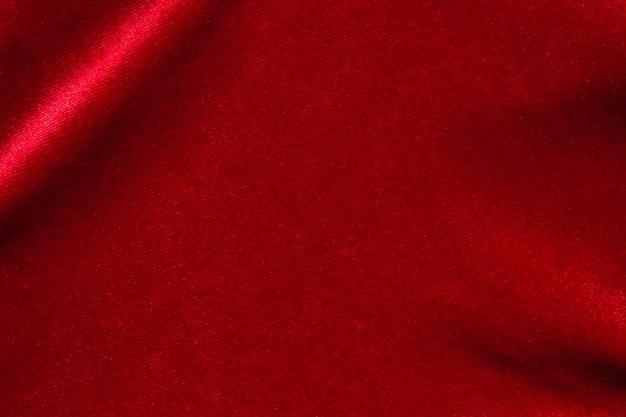 赤い布のテクスチャにクローズアップ