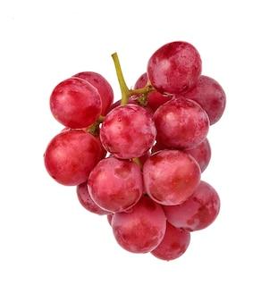 分離された熟した赤ブドウにクローズアップ