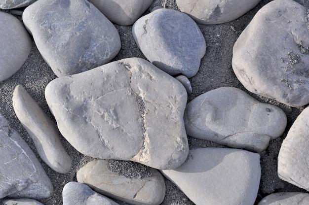 小さな海の石の詳細にクローズアップ