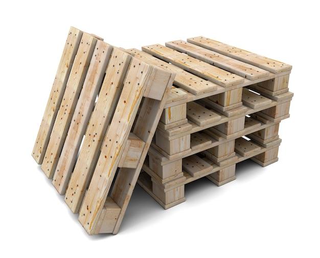 Заделывают на стеке деревянных поддонов изолированные