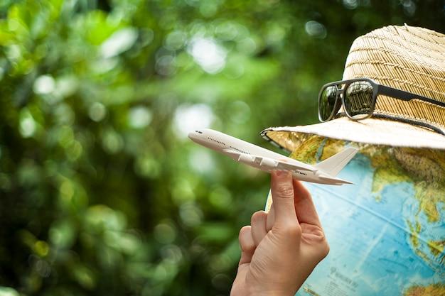 Крупным планом на концепции путешествия