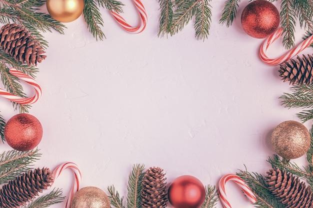 さまざまなクリスマスの飾りにクローズアップ